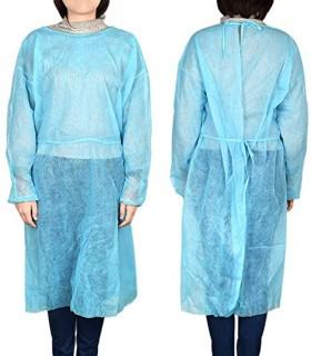 Blouse de protection non tissée avec poignets élastiqués - Coloris bleu